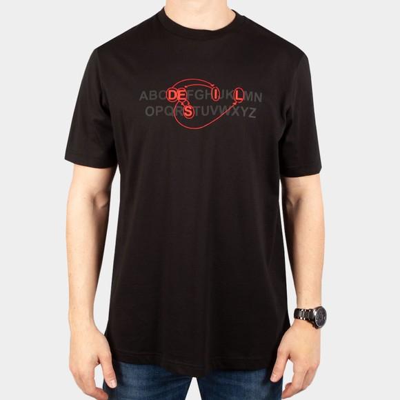 Diesel Mens Black Just B76 T Shirt main image