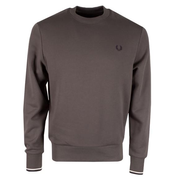 Fred Perry Mens Grey Crew Neck Sweatshirt