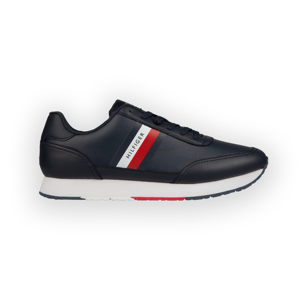 Essential Stripes Leather Runner Trainer main image