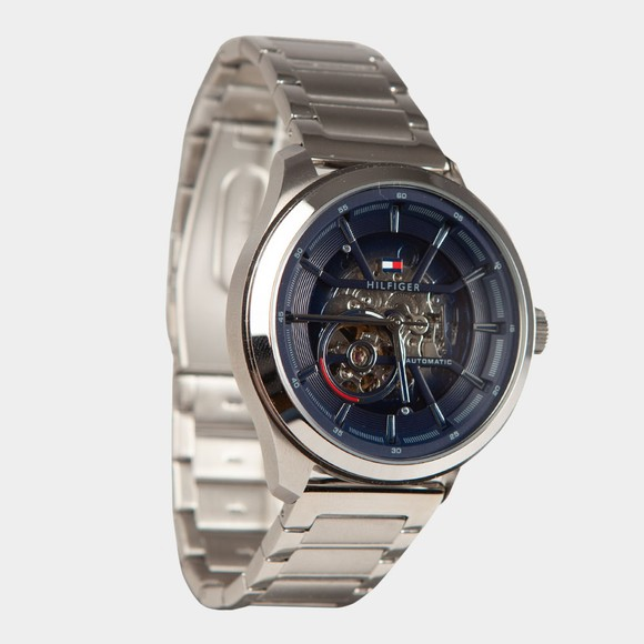 Tommy Hilfiger Mens Silver Olive Watch