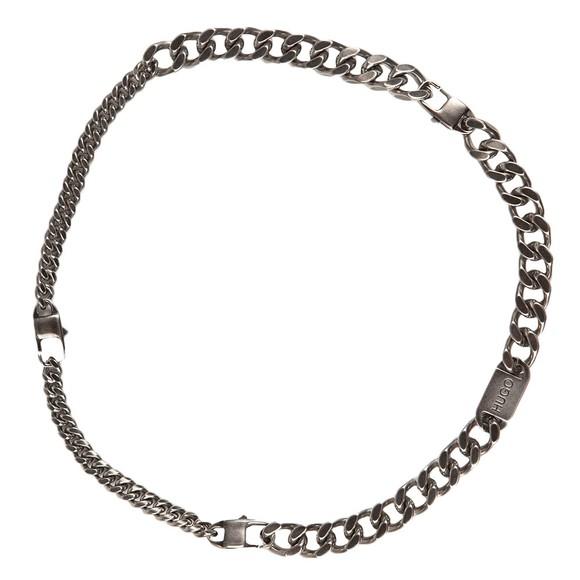 HUGO Mens Silver E Cut Functional Necklace