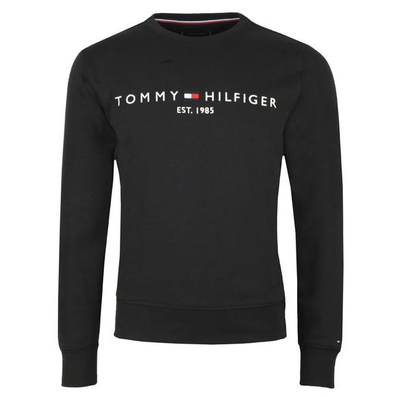 Tommy Hilfiger Mens Black Logo Sweatshirt
