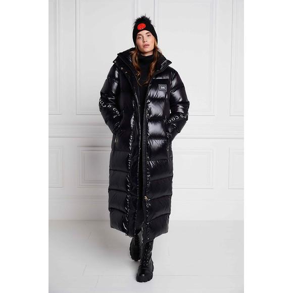 Holland Cooper Womens Black Camden Longline Coat