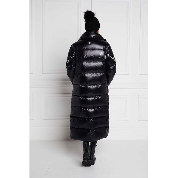 Holland Cooper Womens Black Camden Longline Coat main image
