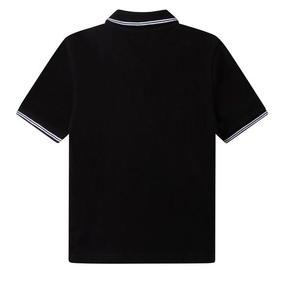 BOSS Boys Black J25L73 Square Badge Polo Shirt main image