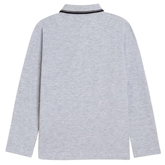 BOSS Boys Grey J25L78 Long Sleeve Polo Shirt main image