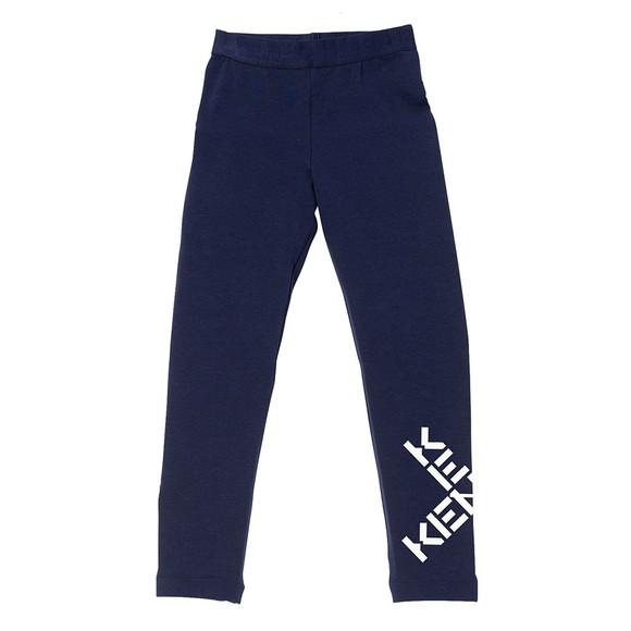 Kenzo Kids Girls Blue Cross Logo Legging