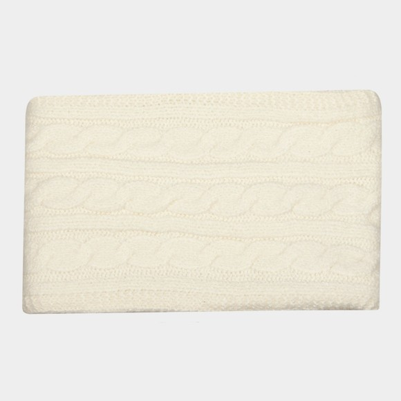 Superdry Womens White Tweed Cable Snood main image