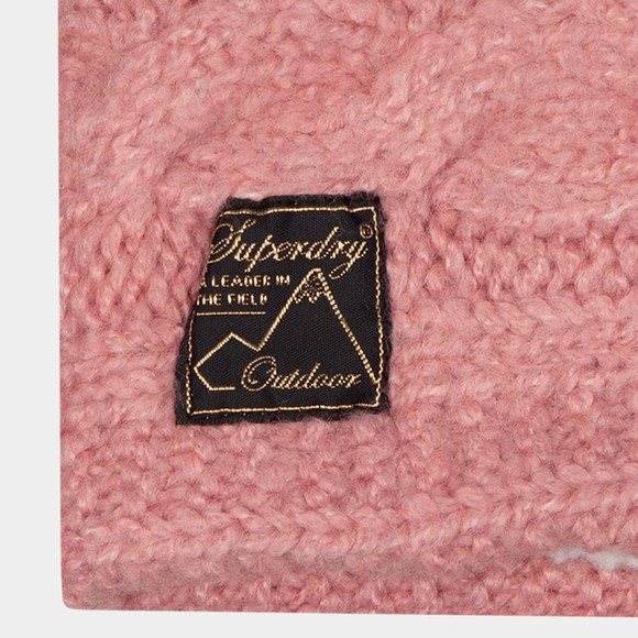 Superdry Womens Red Tweed Cable Snood