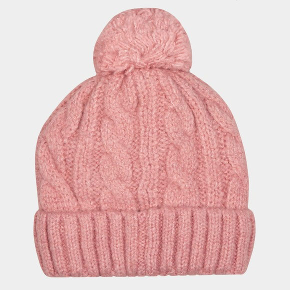 Superdry Womens Red Tweed Cable Beanie