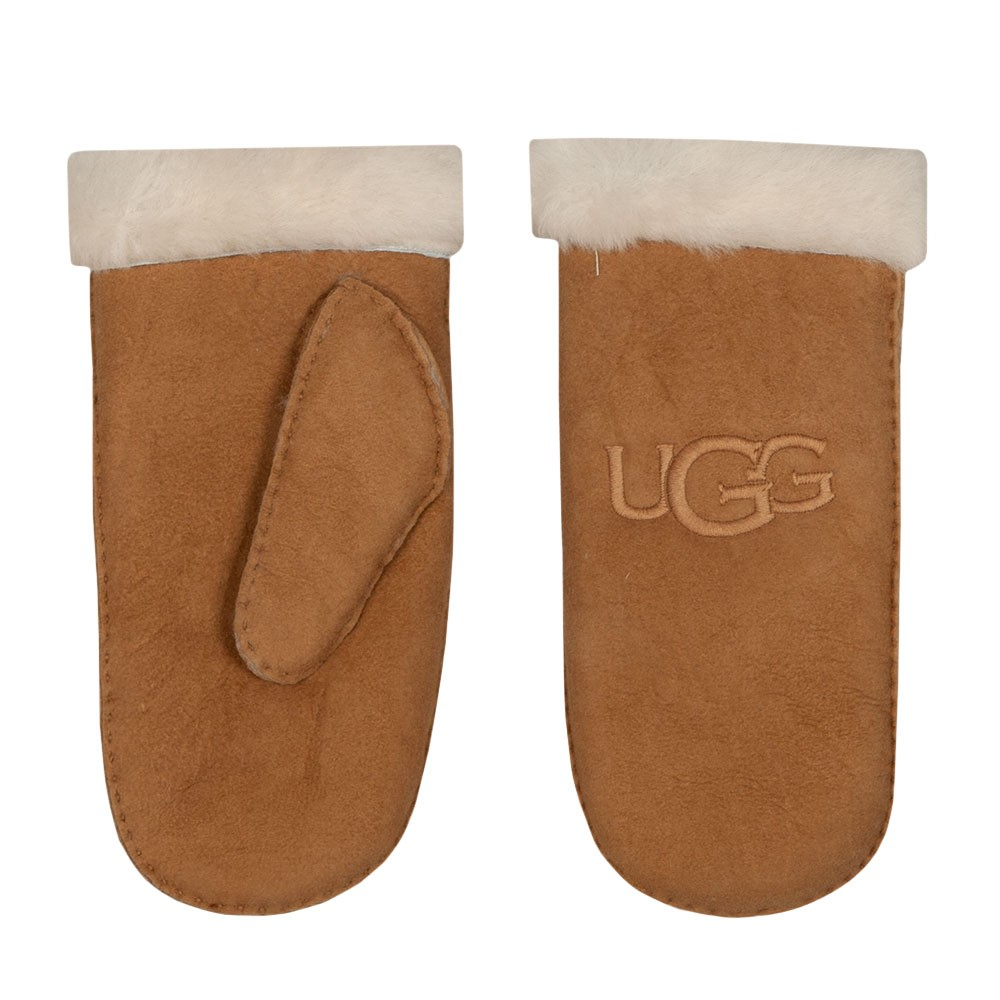 Shearling Embroidered Mitten