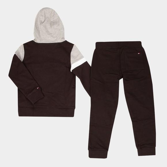 Tommy Hilfiger Kids Boys Black Hooded Colourblock Tracksuit