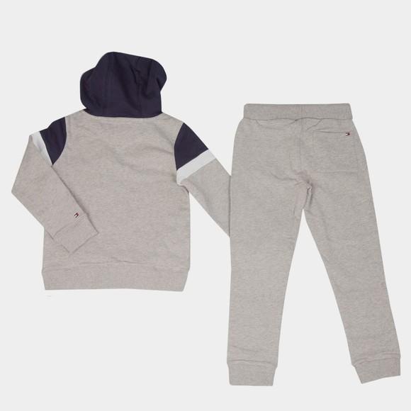 Tommy Hilfiger Kids Boys Grey Hooded Colourblock Tracksuit