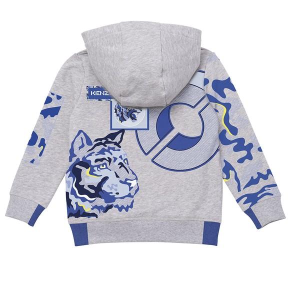 Kenzo Kids Boys Grey K25127 Logo Hoody