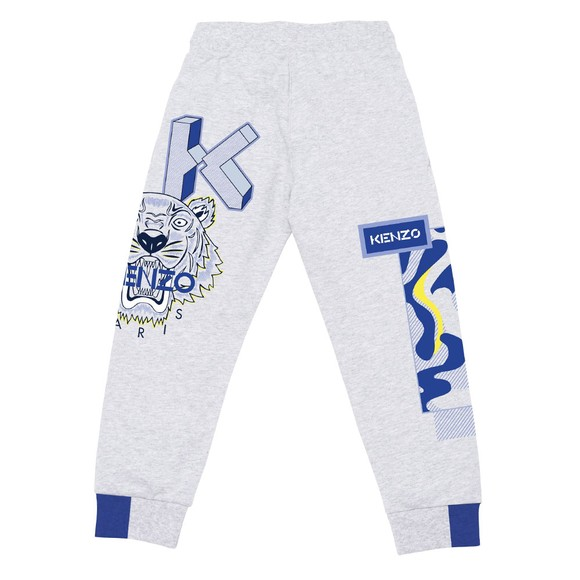 Kenzo Kids Boys Grey K24064 Logo Jogger