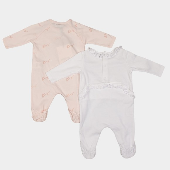 Kenzo Baby Girls White K90026 Twin Pack All In One