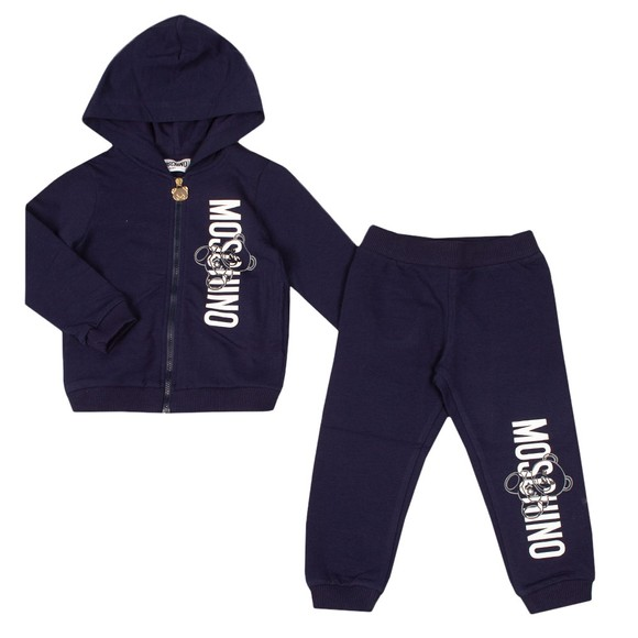 Moschino Boys Blue Full Zip Hooded Tracksuit main image