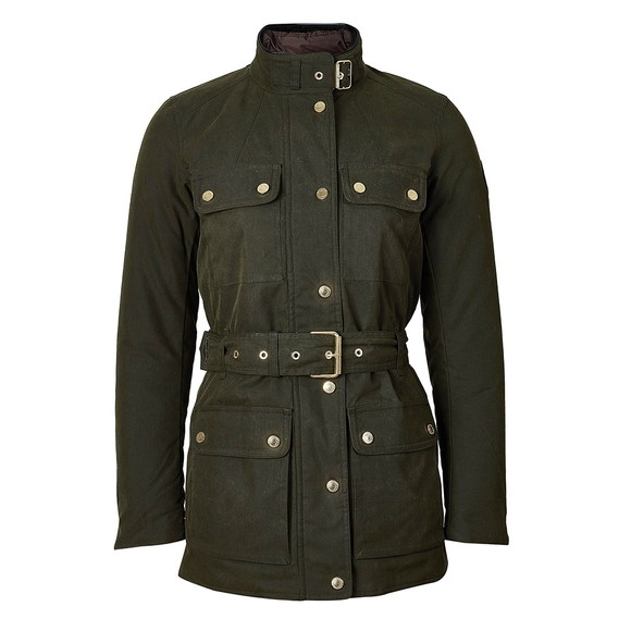 Holland Cooper Womens Green Wax Field Jacket