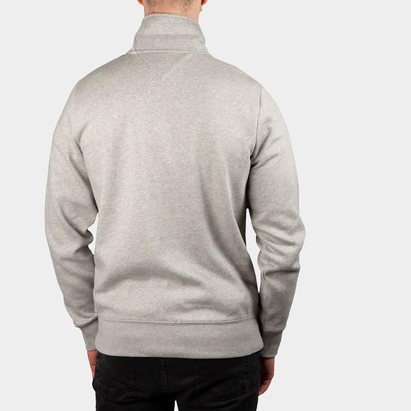 Tommy Hilfiger Mens Grey Logo Mockneck Half Zip main image