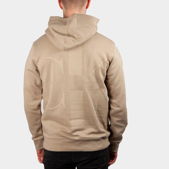 Calvin Klein Jeans Mens Beige Monogram Hoodie main image