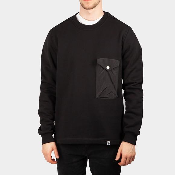 Pretty Green Mens Black Sweeney Sweatshirt