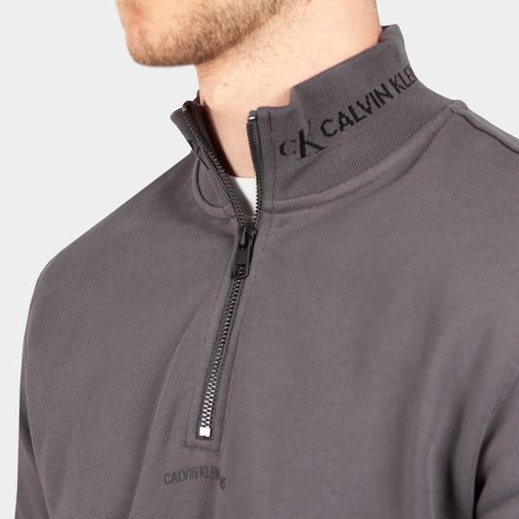Calvin Klein Jeans Mens Grey Jacquard 1/2 Zip Sweatshirt main image