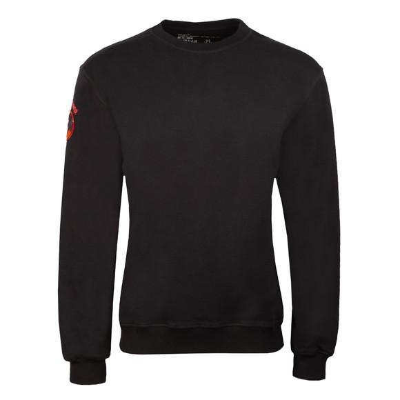 Maharishi Mens Black Panther Patch Crew Neck Sweatshirt