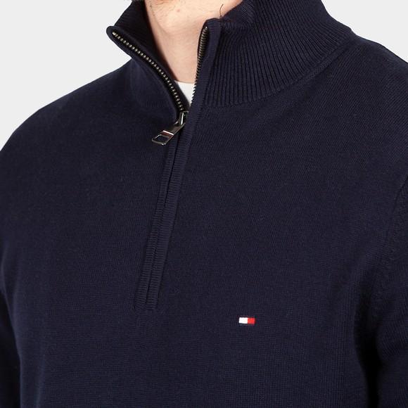 Tommy Hilfiger Mens Blue Pima Cashmere Half Zip main image