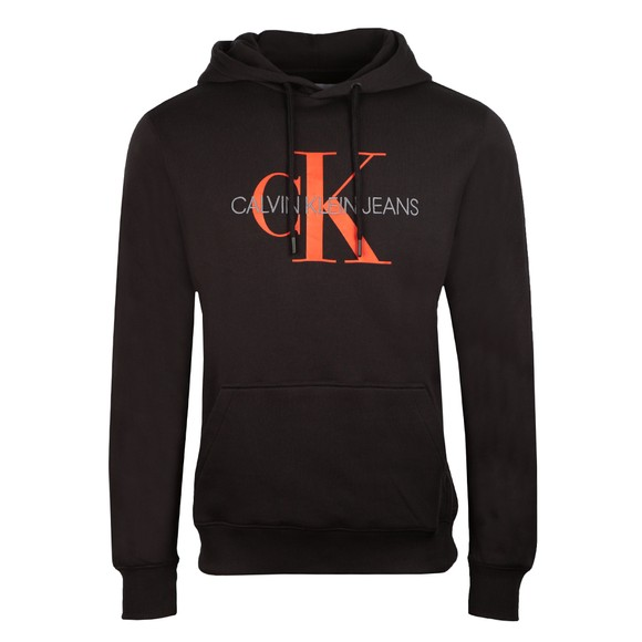 Calvin Klein Jeans Mens Black Seasonal Monogram Hoodie