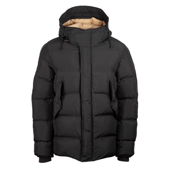 Pretty Green Mens Black Thermo Bonded Puffer Jacket