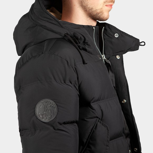 Pretty Green Mens Black Thermo Bonded Puffer Jacket main image