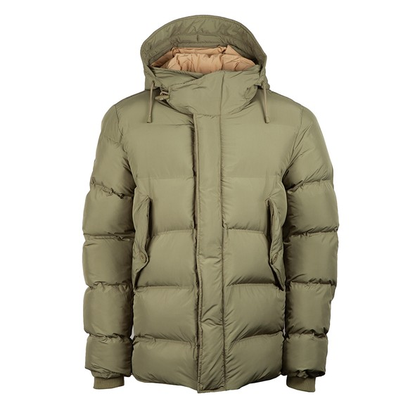Pretty Green Mens Green Thermo Bonded Puffer Jacket