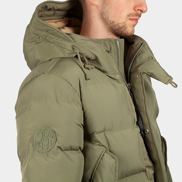 Pretty Green Mens Green Thermo Bonded Puffer Jacket main image