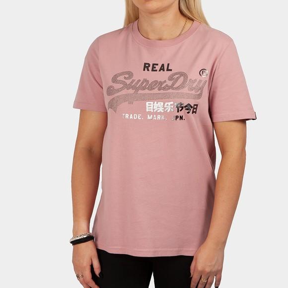 Superdry Womens Pink Boho Sparkle T Shirt