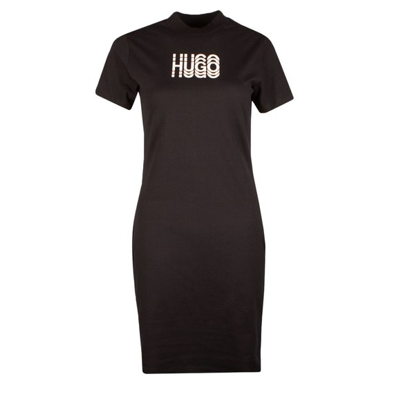 HUGO Womens Black Narcissa T Shirt Dress