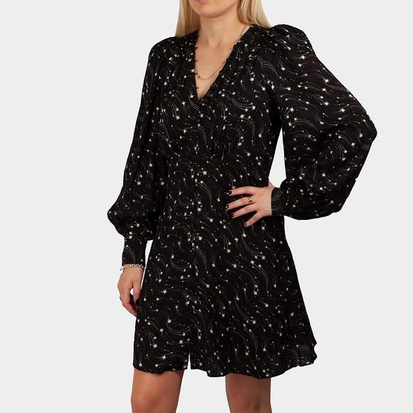 Ted Baker Womens Black Gemmi Rouleau Mini Tea Dress
