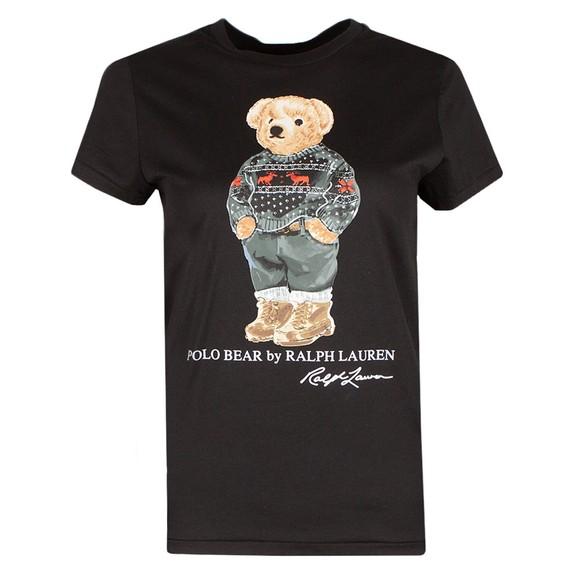 Polo Bear By Ralph Lauren Womens Black Ski Bear T Shirt