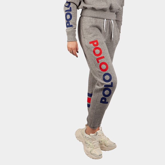 Polo Ralph Lauren Womens Grey Stripe Leg Jogger