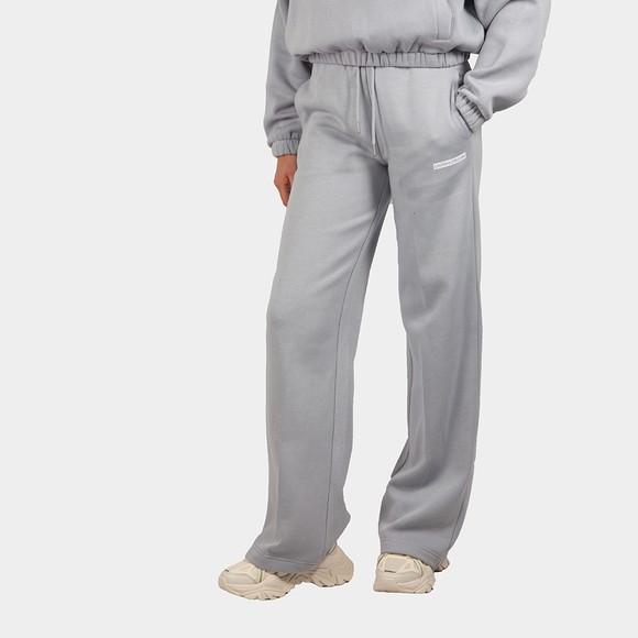 Calvin Klein Jeans Womens Grey Micro Flock Jogger