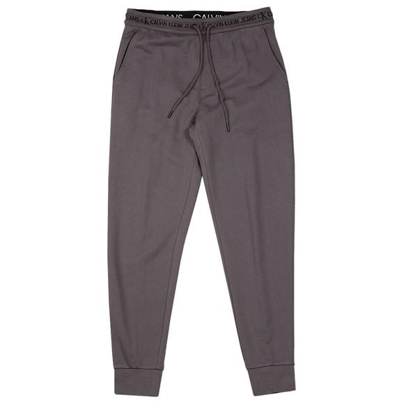Calvin Klein Jeans Mens Grey Jacquard Logo Jogger