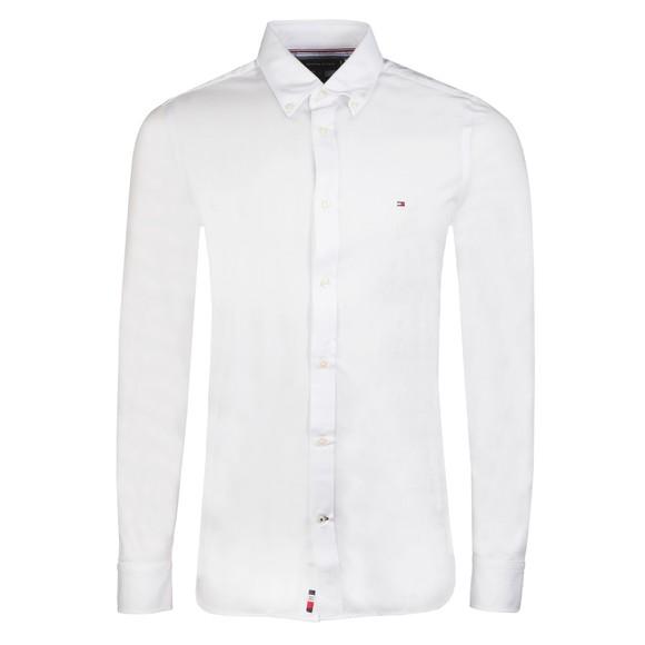 Tommy Hilfiger Mens White Slim 1985 Solid Shirt