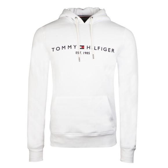 Tommy Hilfiger Mens White Logo Hoody