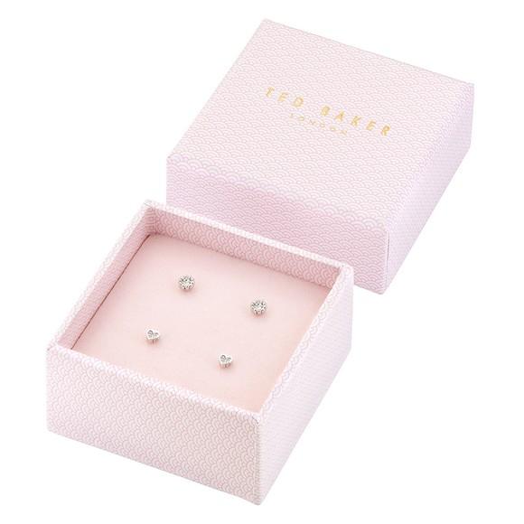 Ted Baker Womens Silver Neenii Nano Heart Earring Gift Set