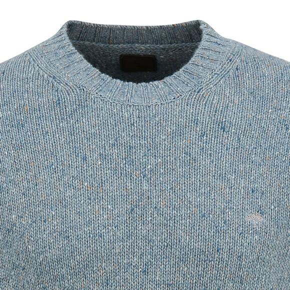 Fynch Hatton Mens Blue Knitted Jumper