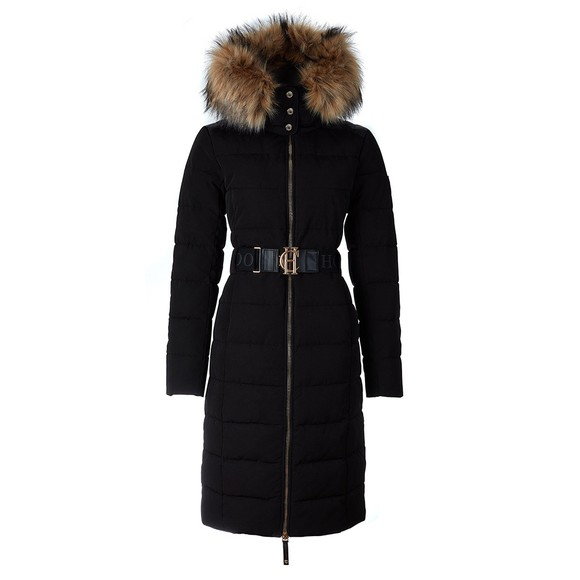 Holland Cooper Womens Black Aspen Puffer Coat