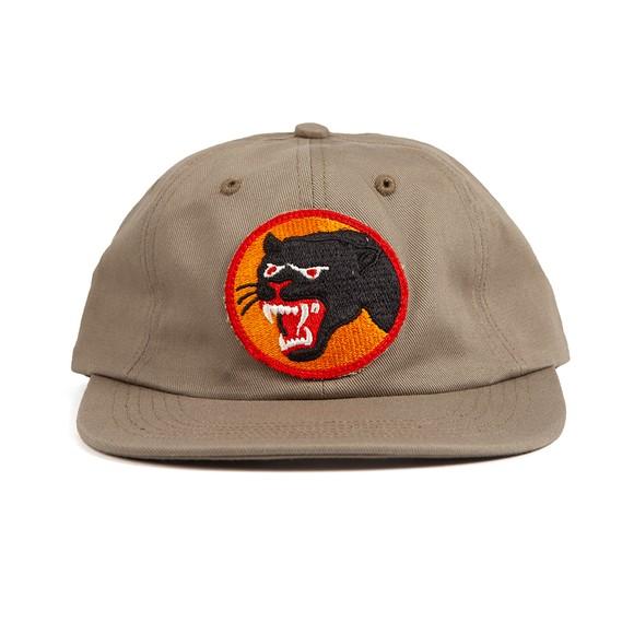 Maharishi Mens Green Vintage Panther Patch Cap