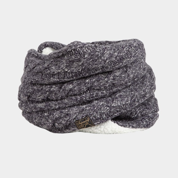 Superdry Womens Blue Tweed Cable Snood