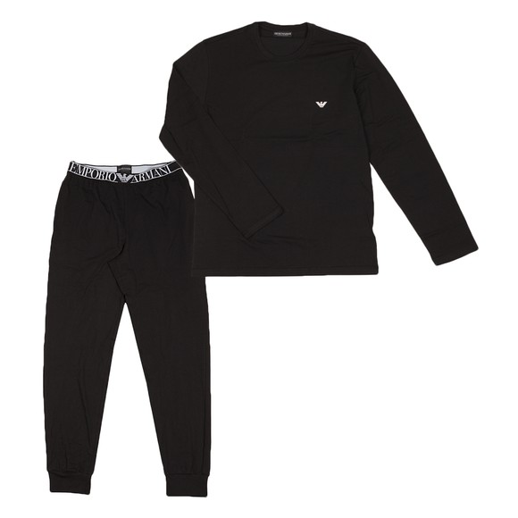 Emporio Armani Mens Black Pyjama Set