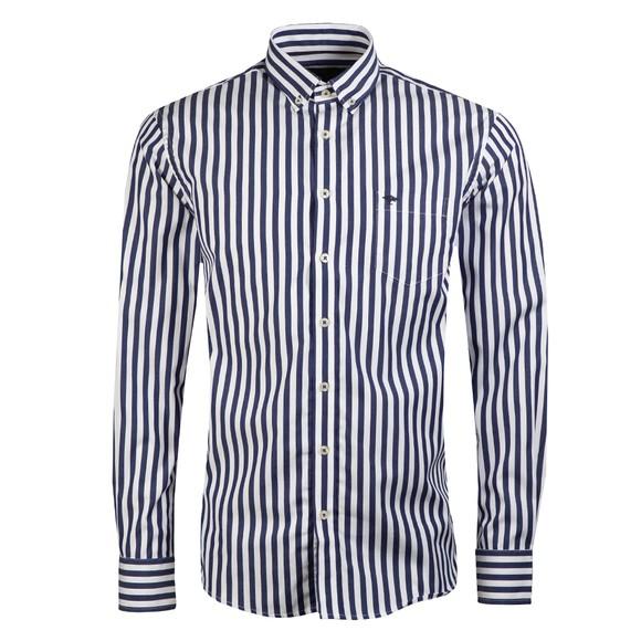 Fynch Hatton Mens Blue Classic Stripes Shirt