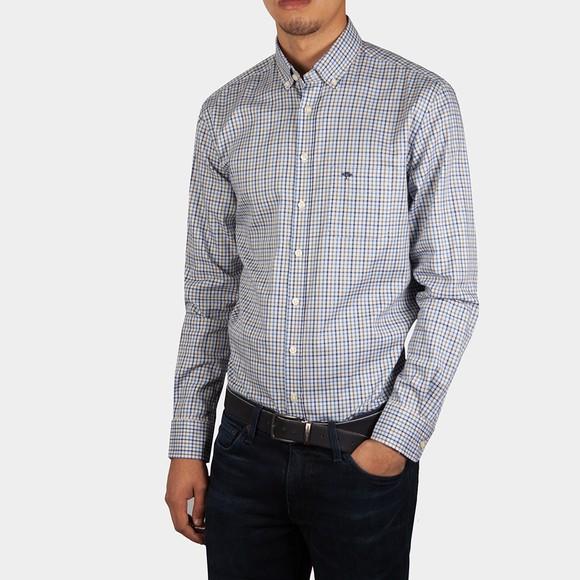 Fynch Hatton Mens Blue Check Shirt